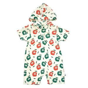 Organic Cotton + Soy Fabric fruit hoodie Romper